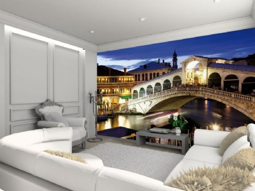 GIANT WALLPAPER WALL MURAL FAMOUS VENICE RIALTO BRIDGE STUNNING MODERN THEMED DESIGN